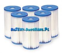 6 x Filtr do pompy 9463 litrów typ B Intex 29005