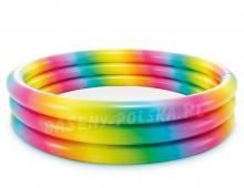 Basen dmuchany dla dzieci 147 x 33 cm INTEX 58439 Tęcza kolorowy