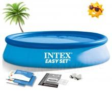 Basen ogrodowy rozporowy 366 x 76 cm okrągły INTEX 28130 niebieski