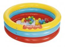 Basenik z piłeczkami dla dzieci Fisher Price 91 x 25 cm Bestway 93501