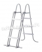 Drabinka do basenów Safe Ladder rozsuwana 91 i 107 cm INTEX 28072