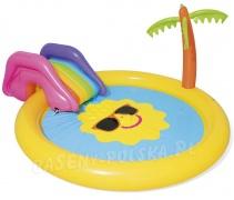 Dmuchany basen ze zjeżdżalnią 237 x 201 x 104 cm Bestway 53071 palma