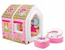 Dmuchany domek dla dzieci fotel stolik 124 x 109 x 122 cm INTEX 48635