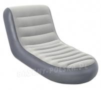 Dmuchany fotel welurowy leżanka Chaise Sport Bestway 75064