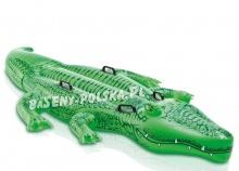 Dwuosobowy dmuchany aligator do pływania 203 x 114 cm Intex