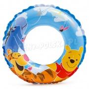Kółko plażowe dla dzieci do pływania Kubuś Puchatek i Tygrysek INTEX 58228