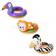 Koło dla dzieci wesołe zwierzaki 3 wzory zebra tukan małpka Bestway 36112
