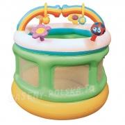 Kolorowy kojec dmuchany dla dzieci Tęcza 109 x 104 cm Bestway 52221