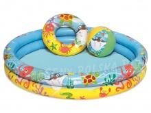 Mały basenik dmuchany dla dzieci 61x20 cm kółko piłka Bestway 51124
