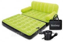 Materac łóżko z oparciem sofa 3w1 Bestway 67356 z pompką