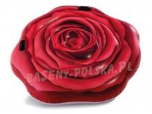 Materac plażowy do pływania czerwona Róża 137 x 132 cm INTEX 58783