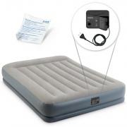 Materac welurowy Pillow Rest z pompką 152 x 203 x 30 cm INTEX 64118