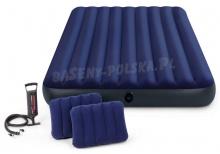 Materac welurowy Queen z pompką i poduszką 152 x 203 x 22 cm INTEX 68765