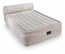 Materac welurowy z pompką jak łóżko 152 x 229 x 79 cm INTEX 64460