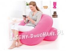 Modny fotel dmuchany 3 kolory 84 x 84 x 74 cm z oparciem