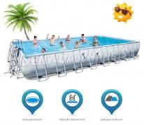 Ogromny basen ogrodowy do pływania 956 x 488 x 132 cm 4w1 Bestway 56479