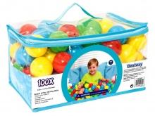 Piłeczki plastikowe 100 sztuk do placu zabaw lub brodzika Bestway 52027