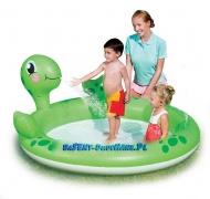 Mini plac zabaw basen z fontanną Żółw 180 x 152 x 66 cm