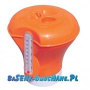 Pływak, dozownik chemii basenowej z termometrem