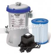 Pompa filtrująca do basenów transformator 12V 2006L/h Bestway 58383GS