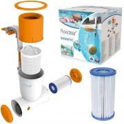 Pompa filtrująca oraz skimer 2w1 Skimatic 3974l/h Bestway 58469