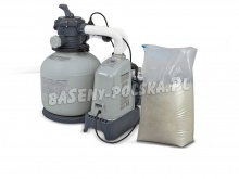 Pompa piaskowa generator chloru 6000 l/h INTEX + 25kg piasku 28676