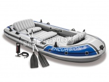 Ponton Excursion 5 Set 366 x 168 x 43 cm INTEX 68325 z wyposażeniem
