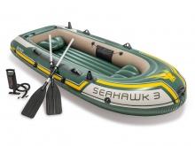 Ponton Seahawk 3 Set wiosła + pompka 295 x 137 x 43 cm INTEX 68380