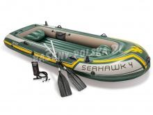 Ponton Seahawk 4 Set 351 x 145 x 48 cm INTEX 68351 z wiosłami i pompką