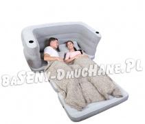 Rozkładana sofa 2w1 materac welurowy 200 x 160 x 64 cm Bestway 75063