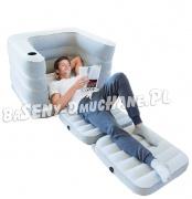 Rozkładany fotel 2w1 materac welurowy 200 x 102 x 64 cm Bestway 75065