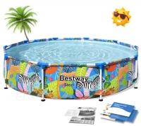 Tropikalny basen ogrodowy stelażowy 305 x 66 cm Bestway 56985 4w1