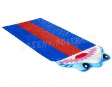 Trzyosobowa ślizgawka wodna Rekin 488cm Bestway 52390 zjeżdżalnia tor
