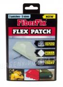 Wodoodporna łatka naprawa basenu pontonu materaca 3 łatki FiberFix FlexPatch