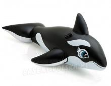 Zabawka dmuchana Orka ryba z uchwytami 193 x 119 cm INTEX 58561