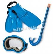 Zestaw do nurkowania dla dzieci maska + rurka + płetwy INTEX 55952