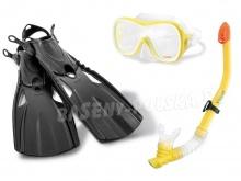 Zestaw do nurkowania maska z regulacją rurka płetwy INTEX 55658